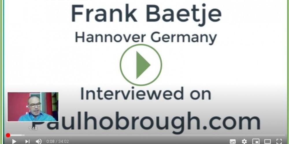 Youtube Interview Frank Bätje mit  Paul Hobrough Shockwave and running expert