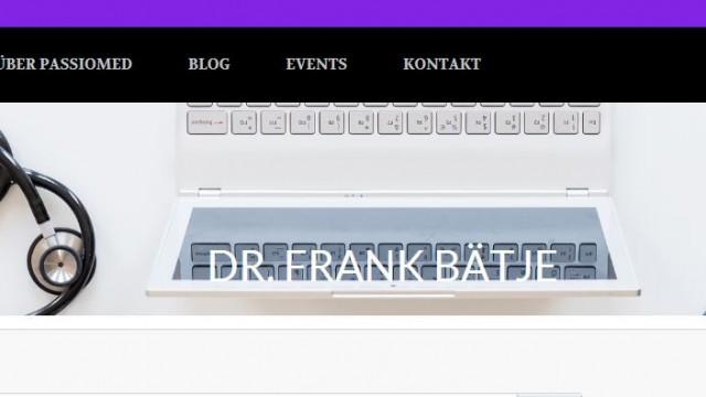 1. Podcastfolge mit Dr. Frank Bätje bei passioMed
